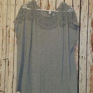 Grey Ava and Viv shirt Size 4